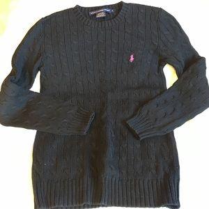 black Ralph Lauren Sport crewneck cotton sweater